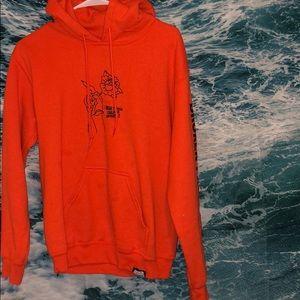 """Orange """"Broken Promises"""" hoodie"""